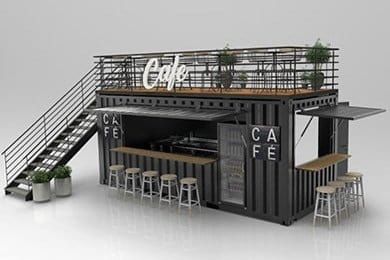 2 story container bar