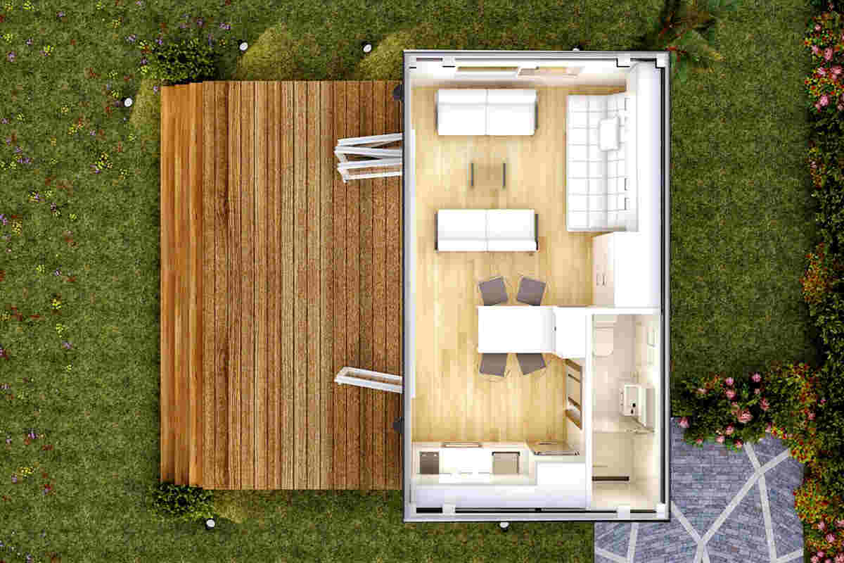 shipping container cabin-plan