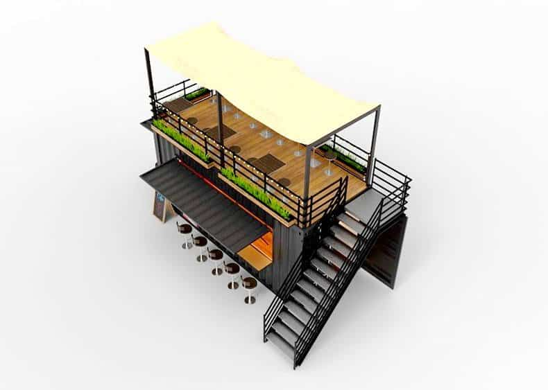 Container Bar With Terrace