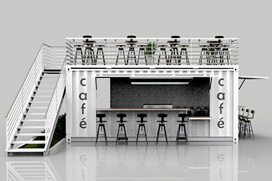 Shipping Container Kiosk Cafe Coffee