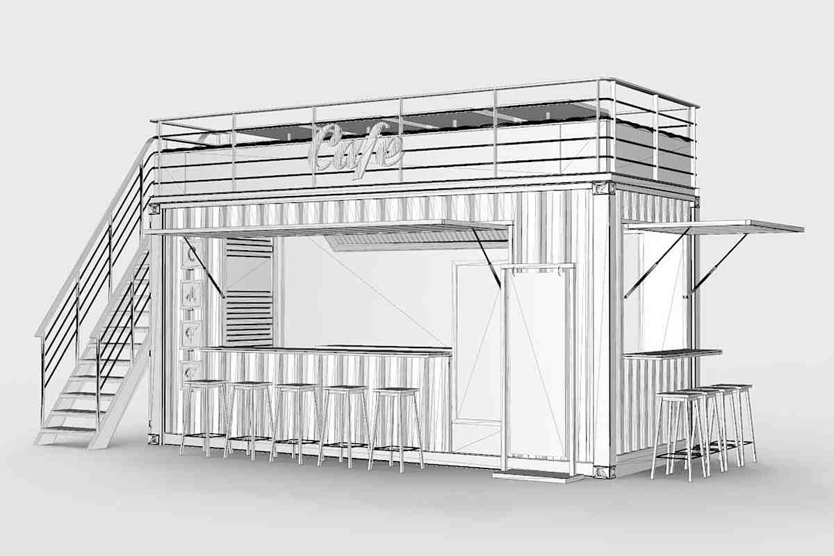 Container Kiosk Cafe