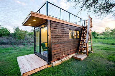 Portable Cabin With Rooftop Deck