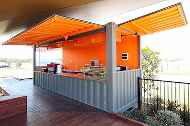 Portable Container Pop-Up Bar