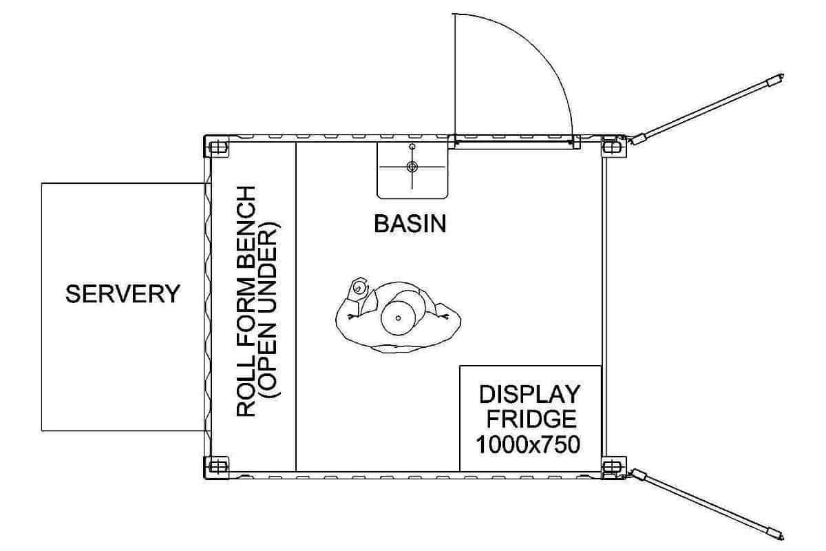coffee container kiosk plan