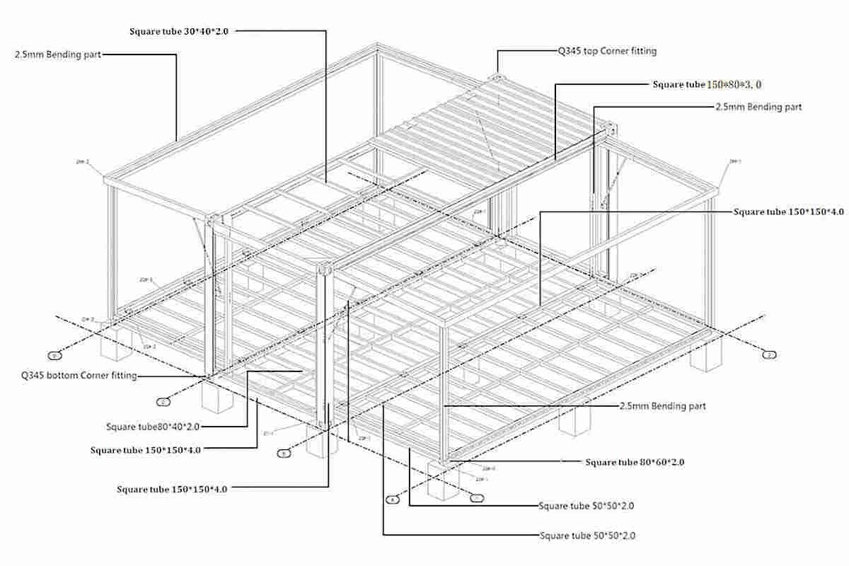 expandable container house plan