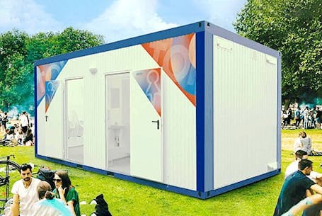 shipping container WC